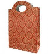 tas kertas pond cantik motif daun