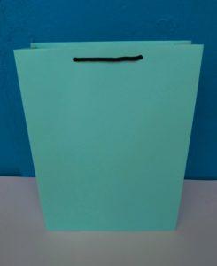 tas kertas, paper bag warna hujau